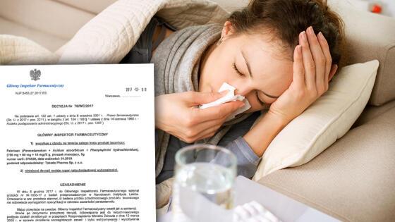 Seria leku na objawy grypy i przeziębienia wycofana z obrotu