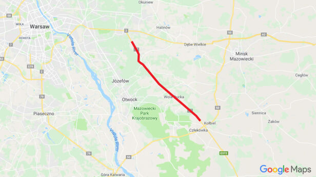 Ten odcinek S17 uzyskał pozwolenie na budowę Google.pl/tvn24.pl