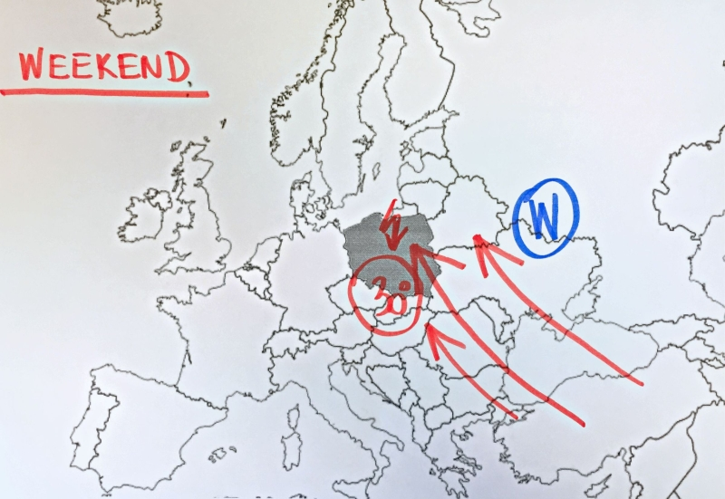 Sytuacja baryczna nad Europą w weekend