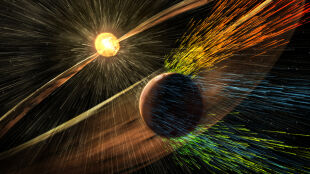 """Wiatr słoneczny """"zdmuchnął"""" atmosferę Marsa"""