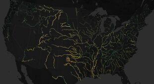 Zdjęcia satelitarne rzek
