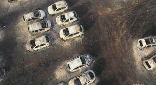 Na Sycylii wybuchł pożar. Zapaliły się samochody