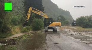 Wiele dróg w Nowej Zelandii zostało zalanych powodziami błyskawicznymi